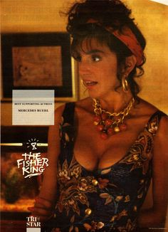 """Mercedes Ruehl in """"The Fisher King"""" (1991) Best Supporting Actress Oscar 1991"""