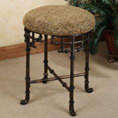 Mcclare vanity stool vanity stool wheels and ps - Bathroom vanity chair with casters ...
