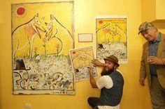 Artist Scott Ackerman signing the 2013 poster!