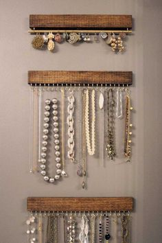 Design jewelry organizer wall display ideas (31)