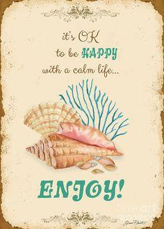 Happy To Be Calm Typography Digital Art  - Happy To Be Calm Typography Fine Art Print