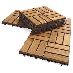 Instant Teak Floor 10-Tile Flooring Kit
