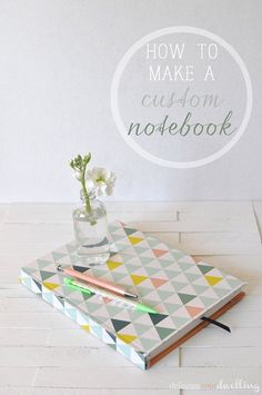 Customize your notebook with this cute and easy DIY notebook tutorial!