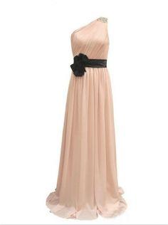 cheap champagne one shoulder long evening dress | Cheap evening dresses Sale
