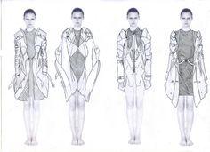 Fashion Sketchbook - fashion design, jacket development sketches - line up… Fashion Illustration Sketches, Fashion Sketchbook, Fashion Sketches, Fashion Portfolio Layout, Portfolio Design, Fashion Line, Fashion Art, Fashion Ideas, Fashion Design Template