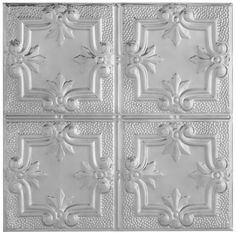 Metallaire Hammered Trefoil Metallaire Collection Estaño/Metal Metallic 2' x 2' Panele 5422321LLS by Armstrong