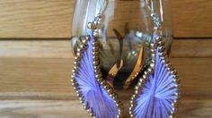 How To Create Beautiful Purple Drop Earrings - DIY Style Tutorial - Guid...