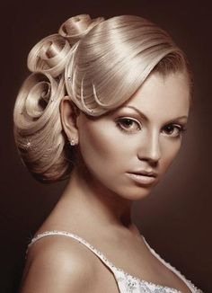 Elegant hairdo or up do Classy wedding updo