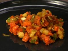 Sweet Potato, Bacon and Apple Hash Recipe : Anne Burrell : Recipes : Food Network Husband said we'll have to make this a lot. I thought it was pretty good. Bacon Recipes, Veggie Recipes, Paleo Recipes, Cooking Recipes, Potato Recipes, Free Recipes, Cooking Tips, Sweet Potato And Apple, Sweet Potato Hash