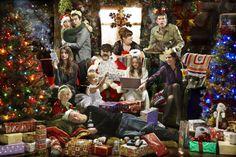 (l-r) Charity, Cain, Lisa, Marlon, Chas, Belle, Zak, Debbie & Aaron (December 2010)