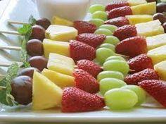 Resultado de imagem para espetadas de fruta