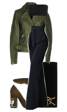 """Sans titre #3346"" by mstfscxrus ❤ liked on Polyvore featuring Yves Saint Laurent, Y.A.S and N°21"