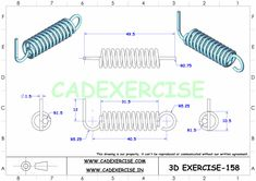 3d Drawings, Technical Drawings, Autocad Isometric Drawing, Cad 3d, Solidworks Tutorial, Mechanical Engineering Design, Drawing Practice, 3d Design, Social Media
