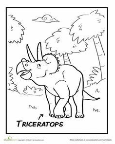 Pteranodon Coloring Page Worksheets School kids and Kids learning