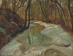 Thorolf Holmboe 1866-1935: Elv i vårløsning 1904