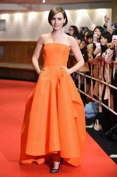 "Lily Collins Premieres ""Love, Rosie"" In Tokyo"
