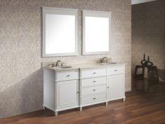 """73"""" Cesarina Double Sink Vanity - White"""