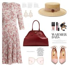 Spring Dresses by jan31 on Polyvore featuring polyvore fashion style Prada Rupert Sanderson Gucci Jacquie Aiche Bobbi Brown Cosmetics Folio TIBI clothing