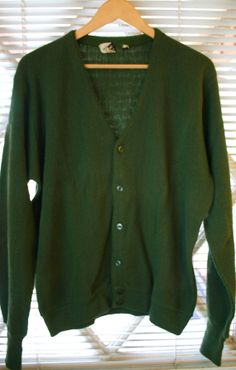 1950's Men's Cardigan Sweater 24 Inches Pit by DMVintageShowroom, $45.00