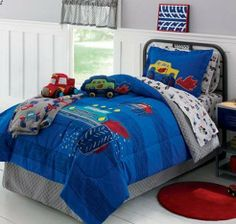 Monster Trucks Boys Full Comforter Set (8 Piece Bed In A Bag) by Kids Bedding. $109.99. The set includes 1- Full Size Comforter, 1- Flat Sheet, 1- Fitted Sheet, 2- Pillowcases, 2- Shams & 1- Bedskirt.. This Monster Truck bedding will make him feel like a pro. The monster truck theme will take his bedroom decor straight to supercool style. Truck graphics offer gigantic amounts of style. The set includes 1- Full Size Comforter, 1- Flat Sheet, 1- Fitted Sheet, 2- Pillowcases...