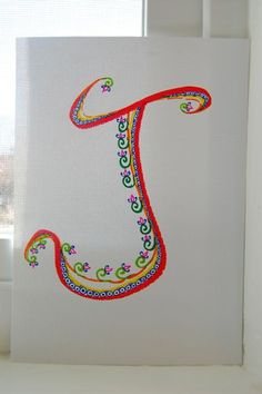 Items similar to Hand-drawn capital letter J drawing, ink on paper, 5' by 7', Alphabet Art on Etsy