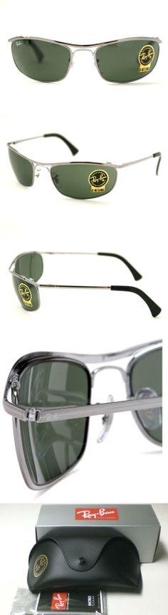 d5b3e753e00c4 New Ray Ban RB3119 004 Olympian Gunmetal Crystal Green Lens 62mm Sunglasses