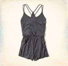 Super cute gray romper starting at $24.99. For more details visit |www.hollisterco.com