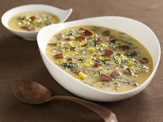 Smoked Sausage, Butternut Squash and Wild Rice Soup Recipe : Emeril Lagasse : Food Network - FoodNetwork.com