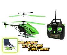 World Tech Toys 3.5ch Gyro Glow in the Dark Hercules Unbreakable Remote Control Helicopter