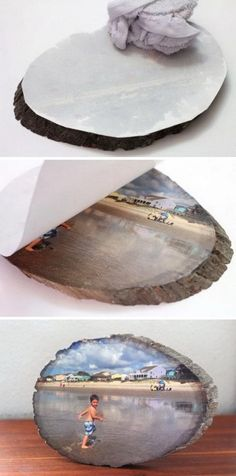 DIY Wood Slice Photo Transfer Learn how to easily transfer any photo onto a slice of wood using Silhouette temporary tattoo paper. The post DIY Wood Slice Photo Transfer appeared first on Wood Diy. Diy Projects To Try, Crafts To Do, Home Crafts, Wood Projects, Woodworking Projects, Craft Projects, Project Ideas, Woodworking Plans, Craft Ideas