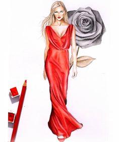 "336 Likes, 15 Comments - Katerina Dimou (@nina.mid.illustration) on Instagram: ""#biancabalti #vogue #ninamid #fashion #fashionsketch #fashionillustrator #fashionillustration…"""