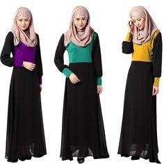 new fashion muslim women dress abaya dubai jibabs kaftan long sleeve waisted shape dress printng robe arab garment #Affiliate