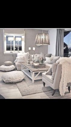 35 Super stylish and inspiring neutral living room designs is part of Shabby Chic Living Room - Treasured for its timeless livability, neutral wears well with everything, which is why a neutral living room design scheme can be stylish and appealing My Living Room, Home And Living, Living Spaces, Modern Living, Living Area, Coastal Living, Grey Room, Shabby Chic Decor Living Room, Beige And Grey Living Room