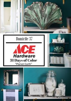 Vintage Moody Bathroom Refresh with Ace Hardware | Moody Bathroom Ideas