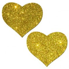 Valentines Pasties Heart Gold Glitter Dancer Reusable Breast Nipple Cover  #Pastease