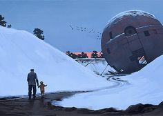 Sci-Fi Paintings by Simon Stålenhag   Inspiration Grid   Design Inspiration