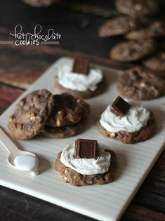 Hot Chocolate Cookies..add hot chocolate mix right in the batter!