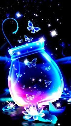 Blue Butterfly Wallpaper, Cute Galaxy Wallpaper, Hipster Wallpaper, Free Iphone Wallpaper, Cute Wallpaper Backgrounds, Cellphone Wallpaper, Cute Wallpapers, Wallpapers Android, Tinkerbell Wallpaper