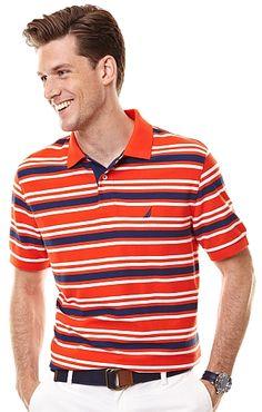 Men's Stripe Performance Polo Shirt - Nautica.com