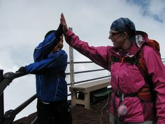 High Five on Fuji – Angie is a hit with the locals