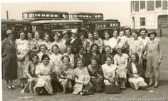 c.1930s Black and white photograph showing female members of staff on an outing from the Samuel Mercer Bakery, Higher Parr Street, St.Helens MFA/26/2/26 Photographs relating to the Benyon family of Sutton, St.Helens