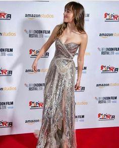 Dakota Style, Dakota Johnson Style, Dakota Mayi Johnson, London Films, Strapless Dress Formal, Formal Dresses, Fifty Shades Of Grey, Jamie Dornan, American Actress