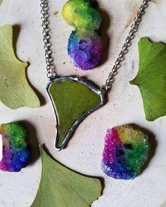 Ginkgo Leaf necklace  real leaf / sale by MyriadMirage on Etsy #hvnyteam, #hudsonvalley