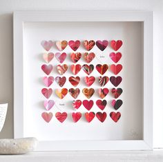 Personalised Flower Hearts Picture - cute for wedding gift