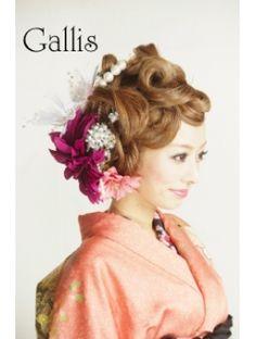 ギャリス Gallis 【Gallis】成人式☆和装お花畑カールアップ