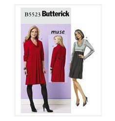 B5523, Misses' Dress