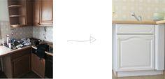 Küchen Make Over // Vorher Nachher // Before and After Kitchen: https://bonnyundkleid.com/2015/08/alte-kueche-weiss-streichen/
