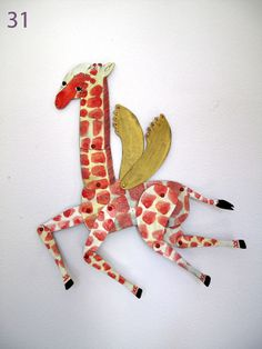 Gregory / Giraffe Articulated Decoration  / Hinged Beasts Series