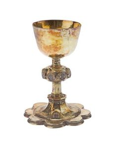 Description            The Fingask Chalice, silver-gilt chalice decorated with basse-taille enamels of Christ, the Apostles and St Denis: French, Paris, early 16th century                Production information            Paris, France, Europe                                    Date            Early 16th century