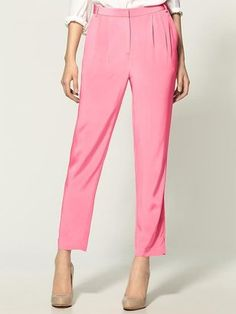 The perfect spring pant. Silk from Tibi. I'd wear the hell outta these. Casual Trends, Silk Pants, Baby Kids Clothes, Skinny Pants, Summer Wardrobe, Style Inspiration, My Style, Stylish, How To Wear